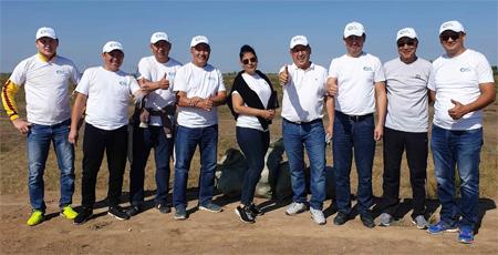 Субботник в рамках экологической акции #Birge #TazaQazaqstan